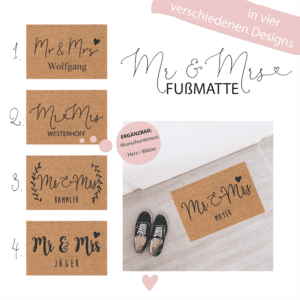 » Mr & Mrs « Fußmatte
